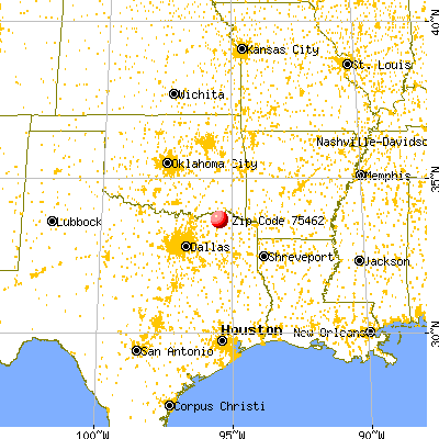 Paris, TX (75462) map from a distance