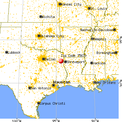 Marshall, TX (75670) map from a distance