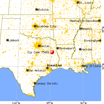 Mount Enterprise, TX (75681) map from a distance