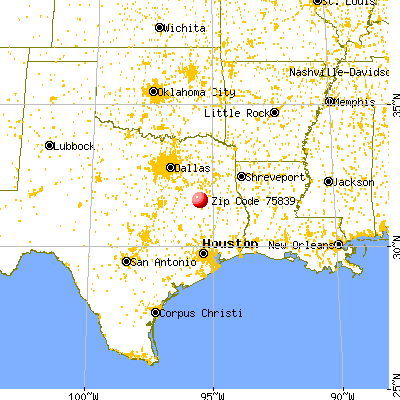 Elkhart, TX (75839) map from a distance