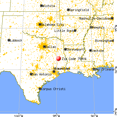 Lufkin, TX (75904) map from a distance