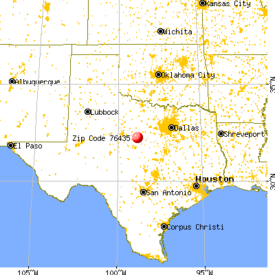 Carbon, TX (76435) map from a distance