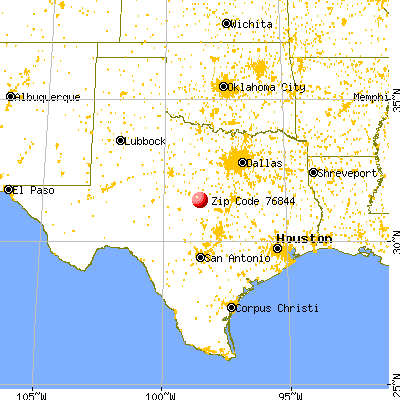 Goldthwaite, TX (76844) map from a distance
