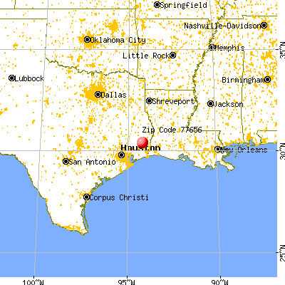 Silsbee, TX (77656) map from a distance