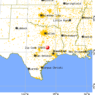 Bryan, TX (77803) map from a distance