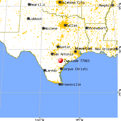Goliad, TX (77963) map from a distance