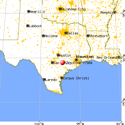 Shiner, TX (77984) map from a distance
