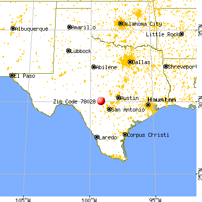 Kerrville, TX (78028) map from a distance