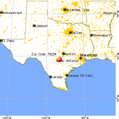 Schertz, TX (78154) map from a distance
