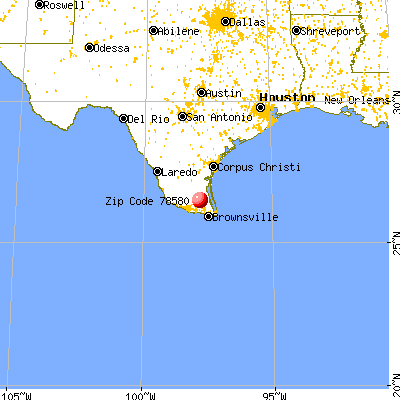 Raymondville, TX (78580) map from a distance