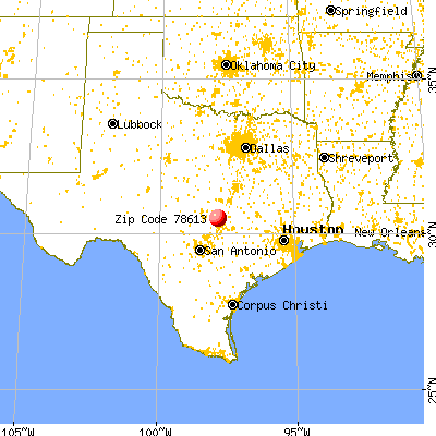Cedar Park, TX (78613) map from a distance
