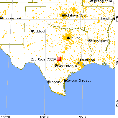 Dripping Springs, TX (78620) map from a distance