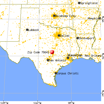 Leander, TX (78641) map from a distance
