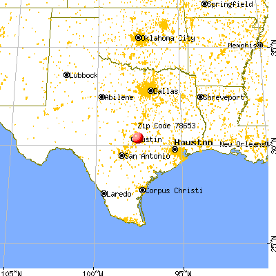 Manor, TX (78653) map from a distance