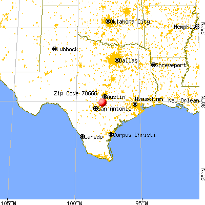 San Marcos, TX (78666) map from a distance
