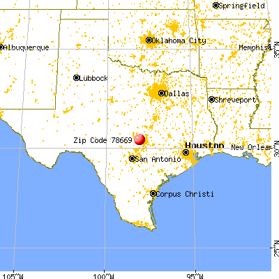 Briarcliff, TX (78669) map from a distance