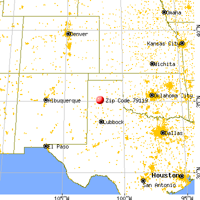 Amarillo, TX (79119) map from a distance
