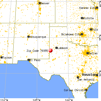 Plains, TX (79355) map from a distance