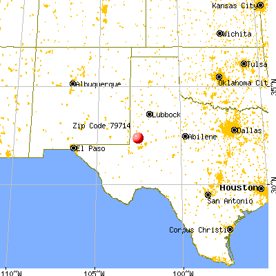 Andrews, TX (79714) map from a distance