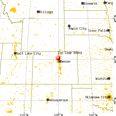 Longmont, CO (80501) map from a distance