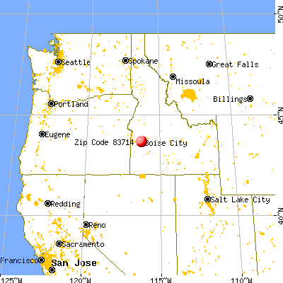 Garden City, ID (83714) map from a distance