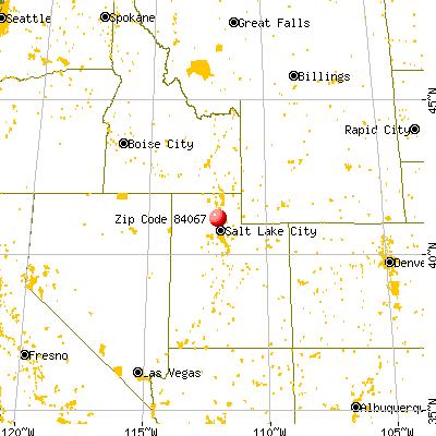 Roy, UT (84067) map from a distance
