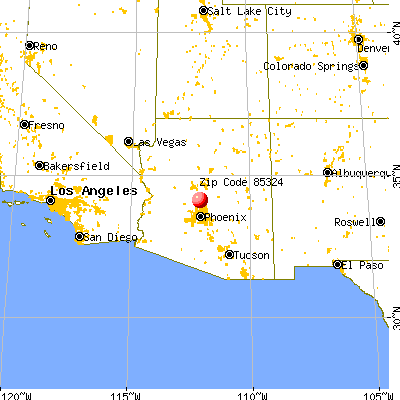Black Canyon City, AZ (85324) map from a distance