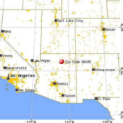 Tuba City, AZ (86045) map from a distance
