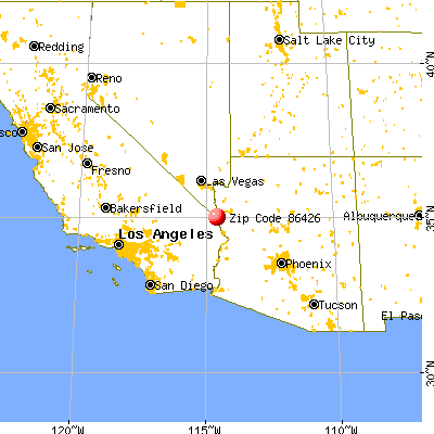 Bullhead City, AZ (86426) map from a distance