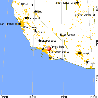 San Bernardino, CA (92411) map from a distance