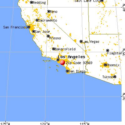 Orange, CA (92869) map from a distance