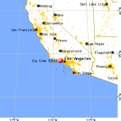 Camarillo, CA (93012) map from a distance