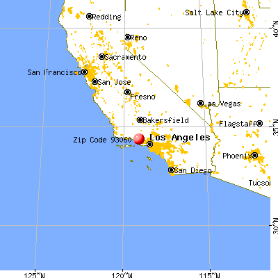 Santa Paula, CA (93060) map from a distance