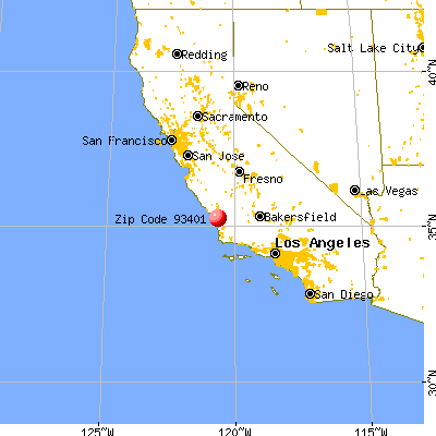 San Luis Obispo, CA (93401) map from a distance