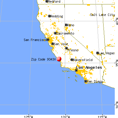 Cayucos, CA (93430) map from a distance