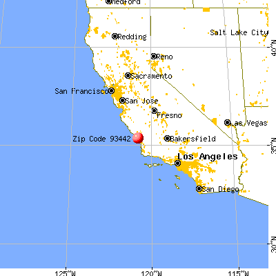 Morro Bay, CA (93442) map from a distance