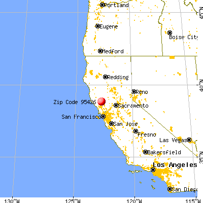 Cobb, CA (95426) map from a distance
