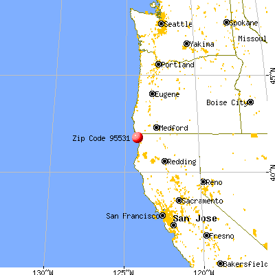 Bertsch-Oceanview, CA (95531) map from a distance