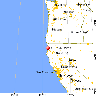 Orick, CA (95555) map from a distance