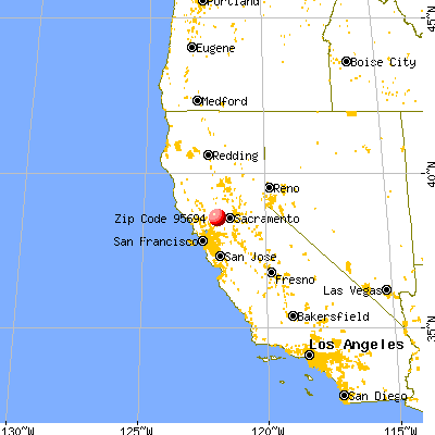 Winters, CA (95694) map from a distance