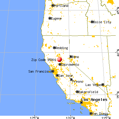 Loma Rica, CA (95901) map from a distance
