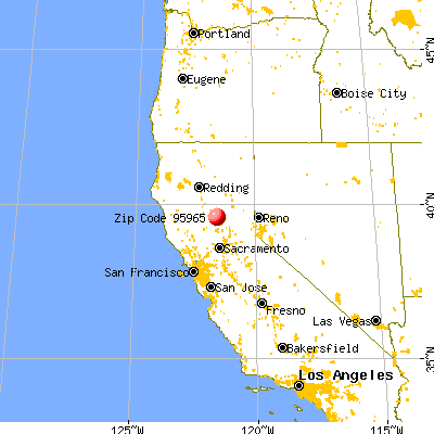 Concow, CA (95965) map from a distance
