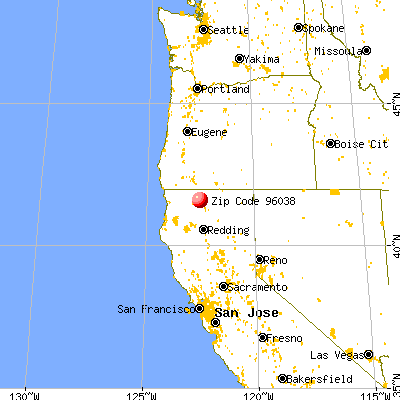 Grenada, CA (96038) map from a distance
