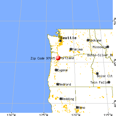Beaverton, OR (97005) map from a distance