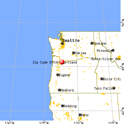 Gresham, OR (97030) map from a distance