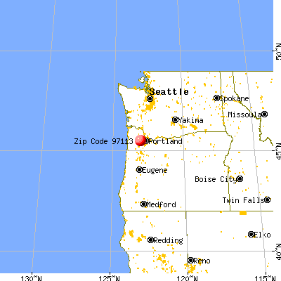 Cornelius, OR (97113) map from a distance