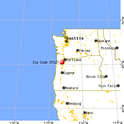 Lafayette, OR (97127) map from a distance