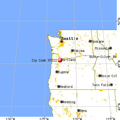 Milwaukie, OR (97222) map from a distance