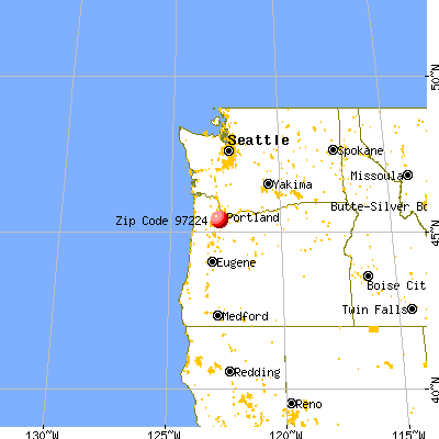 Tigard, OR (97224) map from a distance