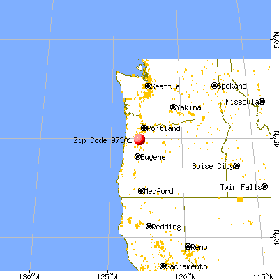 Salem, OR (97301) map from a distance